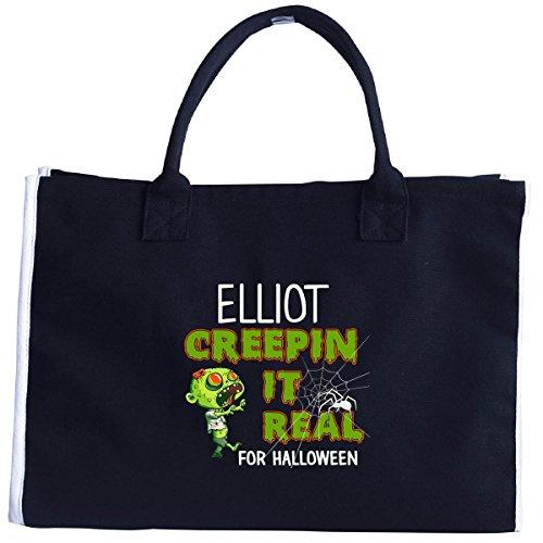 Elliot Creepin It Real Funny Halloween Costume Gift - Tote Bag