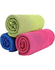 GJT Cooling Towel,Microfiber Towel for Instant Cooling Relief,Cold Towel Travel Towel For Yoga,Sport,Gym,Workout, Fitness,Running,Swimming, Camping,Golf, Football,Outdoor Sports (3 Pack)