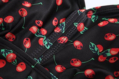 Kemrrey - Traje de una pieza - Sin mangas - para mujer cereza