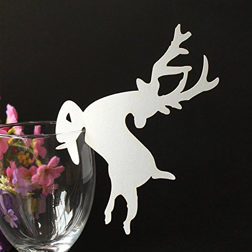 Kuke-50Pcs-Laser-Cut-Christmas-Deer-Wedding-Table-Name-Place-Cards-Wine-Glass-Party-Decoration