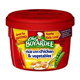 Chef Boyardee Rice with Chicken & Vegetables, 7.25oz Microwavable Bowls (Pack of 6)