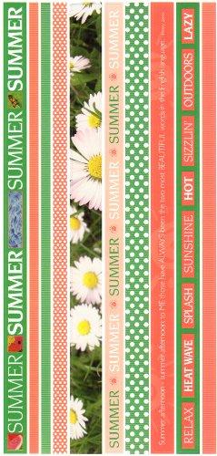 Summer Photo Banner Ribbon Border Cardstock Scrapbook Stickers (Cloud 9 Design Photo Banner)