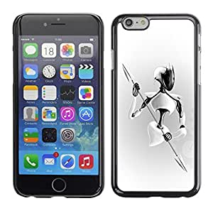 GagaDesign Phone Accessories: Hard Case Cover for Apple iPhone 6 Plus 5.5 Inch - White Warrior
