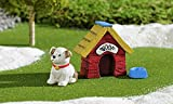 Gift Craft 706473 Mini Kids at Play Doghouse Set Outdoor Sculptures For Sale