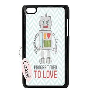 Casehk Unique Design Hard Shell Case for iPod Touch 4, Robot iPod Touch 4 DIY Case, Robot Custom Cell Phone Case