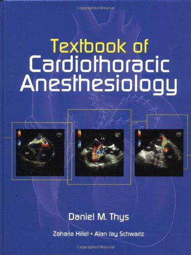 Pdf Medical Books Textbook Of Cardiothoracic Anesthesiology