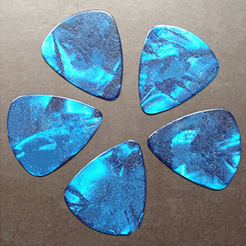 10Pcs Blue Thin 1Mm Assorte Acoustic Electric Guitar Picks Plectrums