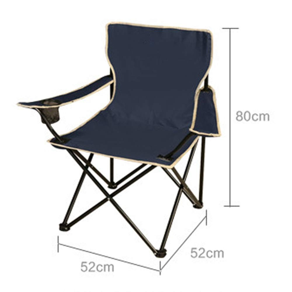 Folding Chair Portable Picnic Chair Fishing Chair Outdoor Park Camping Folding Chair Adult Folding Chair (Color : Black, Size : 525280CM)