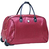 Empire 21″ 2 Wheeled Carry-On Duffel Color: Burgundy, Bags Central