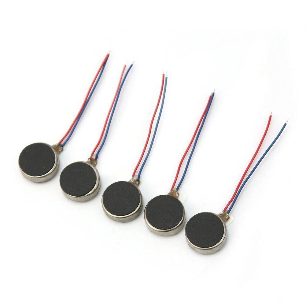 10Pcs Pager Téléphone cellulaire mobile Coin plat Vibrant Micro moteur 3V 10 * 3.4mm