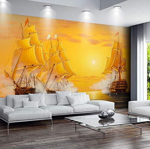 Weaeo カスタム3D壁紙壁紙油絵帆船滑らかなセーリングテレビの背景装飾画像現代の壁紙リビングルーム-250X175CM B07GYYS3T4  250X175CM
