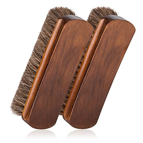 6.7'' Horsehair Shoe Brushes with Horse Hair Bristles for Boots, Shoes & Other Leather Care, 2 Pack (Brown) by Foloda (Image #7)