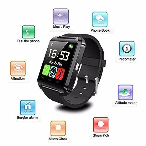 ARBUYSHOP Nueva Bluetooth SmartWatch U8 Andriod Ios impermeable inteligente Relojes GPS inteligente reloj de pulsera teléfono Mate para Android móvil ...