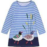 Tsyllyp Baby Girls Dress Long Sleeve Cotton Causal Dresses Kids Back to School