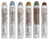 oil paint sticks - Jack Richeson Shiva Oil Paintstik, Traditional Colors, Set of 6