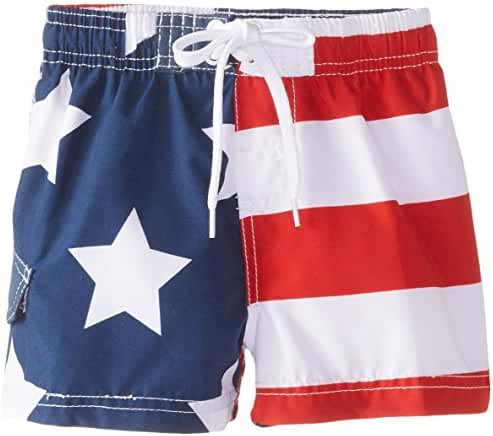 Kanu Surf Baby Boys' American Flag Swim Trunk
