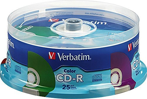 Verbatim - 52x CD-R Discs (25-Pack) - Multi