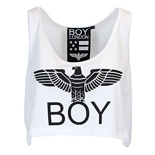 DONNA BL1022 TOP JERSEY London bianco Boy STAMPA fwqg1Pw5