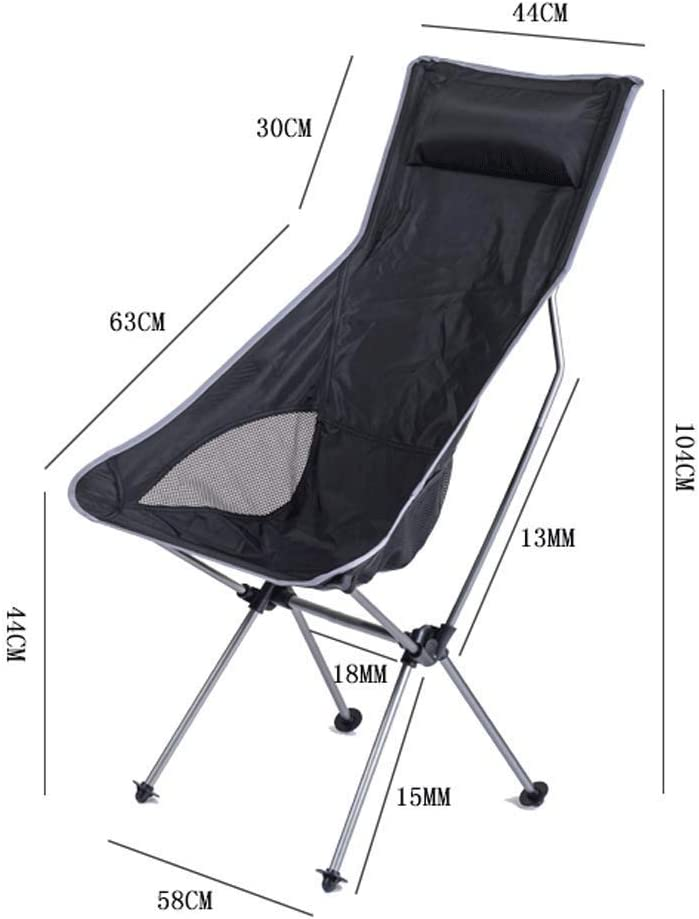 SCDXJ Camping Concert Folding Chair with Armrests and Mesh Back Compact and Sturdy Chairwith Carry Case (Color : B) A