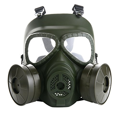 VILONG Airsoft Full Mask with Dual Filter Fans,Skull