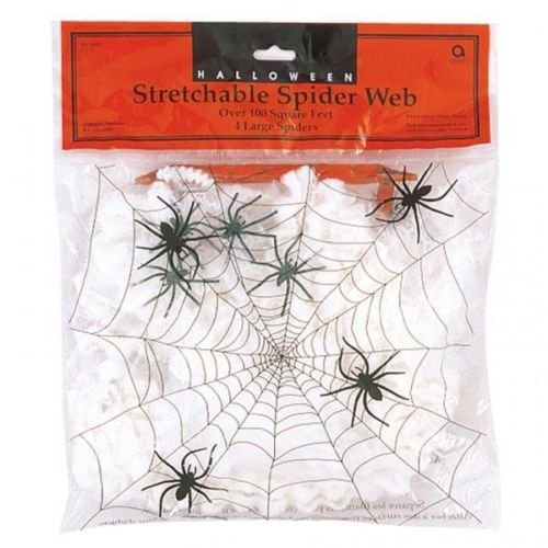 Spider Web With 4 Spiders Halloween Decoration