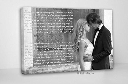 First Dance Lyrics/ Wedding Canvas Photo Decor Words Vows lyrics/ Anniversary or Wedding Art by RockinCanvas (Image #2)