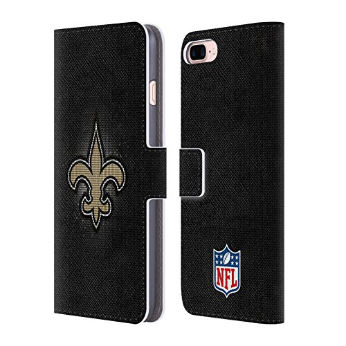 Official NFL LED 2017/18 New Orleans Saints Leather Book Wallet Case Cover for iPhone 7 Plus/iPhone 8 Plus -