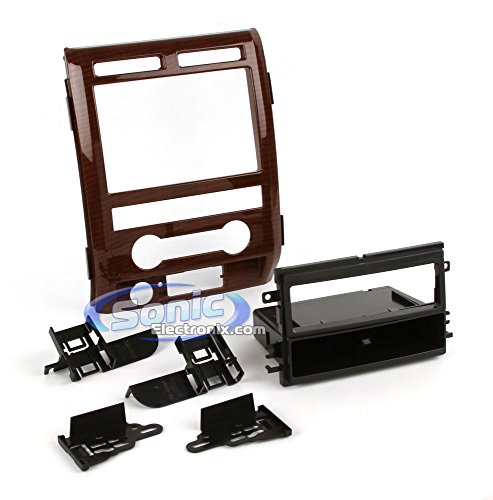 Metra 99-5822CM Single DIN Installation Dash Kit for 2009-2010 Ford F-150 King Ranch, Curly Maple