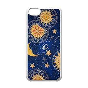 YNACASE(TM) Sun Moon Space Nebula DIY Cover Hard Back Cover Case for iPhone 5C,Personalized Phone Case with Sun Moon Space Nebula