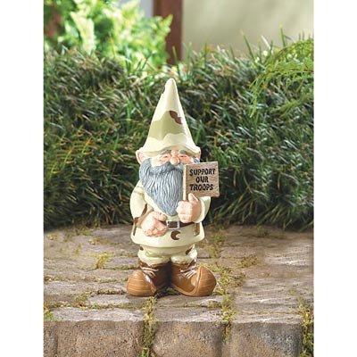 39627卸売Support Our Troops Gnome Camouflage Military Color Camo Whmart   B00HLBRU3Q