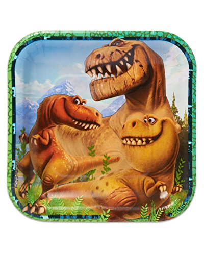 "Price comparison product image American Greetings The Good Dinosaur 7"" Square Party Plate (8 Count)"