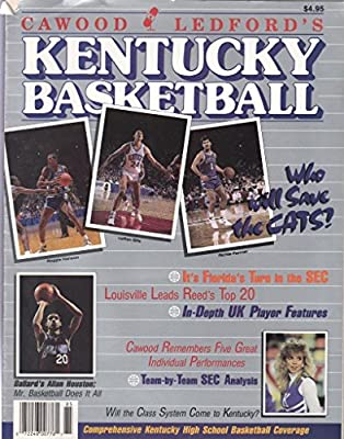 Kentucky Basketball Cawood Ledford 1988 Magazine Kelli Williamson Cover