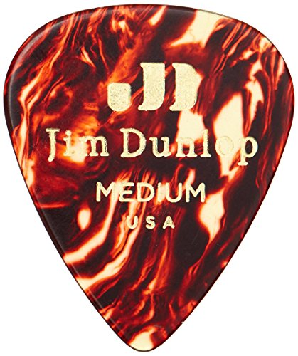 Dunlop Shell (Dunlop 483P05MD Genuine Celluloid, Shell, Medium, 12/Player's Pack)