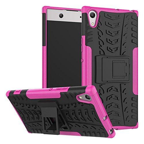 OFU®Para Sony Xperia XA1 Ultra 6.0 Smartphone, Híbrido caja de la armadura para el teléfono Sony Xperia XA1 Ultra 6.0 resistente a prueba de golpes contra la lucha de viaje accesorios esenciales del Rose Red