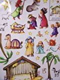 Christmas Reusable Window Clings ~ Build Your Own Nativity Scene (23 Clings, 1 Sheet)