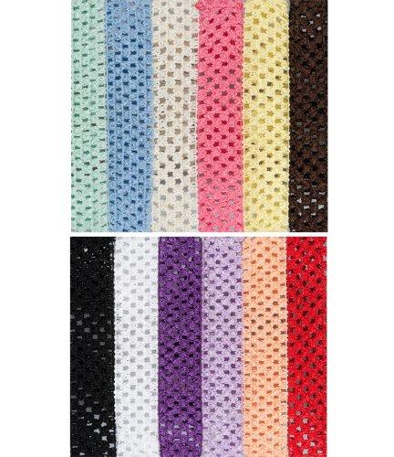 """juDanzy 1,5 """"bébés filles crochet bandeaux 12 couleurs différentes"""