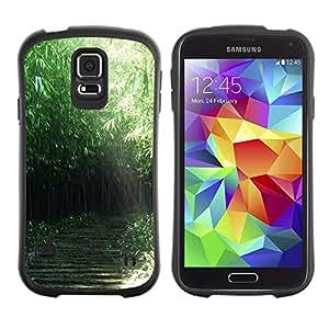 Suave TPU GEL Carcasa Funda Silicona Blando Estuche Caso de protección (para) Samsung Galaxy S5 / CECELL Phone case / / Nature Green Forrest /