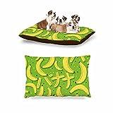 KESS InHouse Strawberringo ''Banana Pattern'' Abstract Food Dog Bed, 30'' x 40''