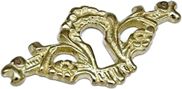 Keyhole Cover Antique Victorian Style Cast Brass Key Hole Cover Escutcheon