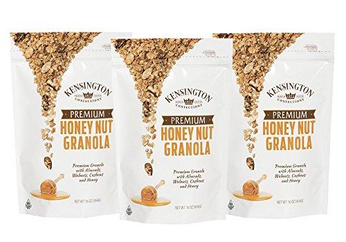 Kensington Honey Nut Premium Granola, 16oz-Pack of 3 - Bags 3 Pack Generic