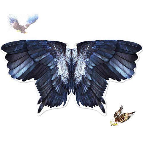 Kids Bird Wings Eagle Costumes for Boys Girls Animal Fancy Dress-Up Feathered Cosplay Party ()