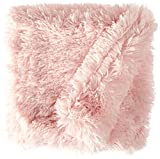 BESSIE AND BARNIE Bubble Gum Luxury Shag Ultra Plush Faux Fur Pet, Dog, Cat, Puppy Super Soft Reversible Blanket (Multiple Sizes)