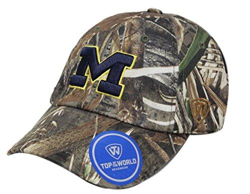 Michigan Wolverines Crew Max Realtree Camo Adjustable Hat / Cap Sizes 6 7/8 - 8 (Michigan Camo Hat)
