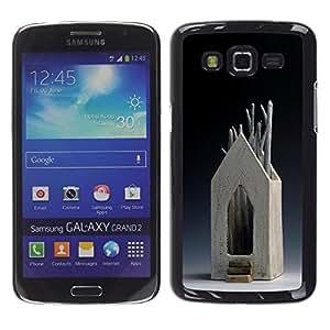 """For Samsung Galaxy Grand 2 II Case , Casa Arte Moderno Árbol de madera Simbólico"""" - Diseño Patrón Teléfono Caso Cubierta Case Bumper Duro Protección Case Cover Funda"""