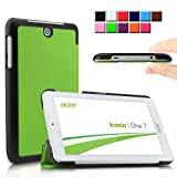 Infiland Acer Iconia One 7 B1-770 case, Ultra Slim Tri-Fold Shell Case Cover for Acer Iconia One B1-770 7-Inch Android Tablet (Acer Iconia One 7 B1-770, Green)