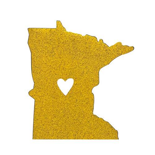 About Face Designs State of Mine Minnesota Gold Glitter Car Magnet - Glitter Mine