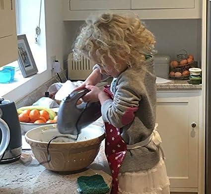 Tablier Enfant en Toile Cir/ée Nettoyage Facile Fleuri Vintage Messy Me
