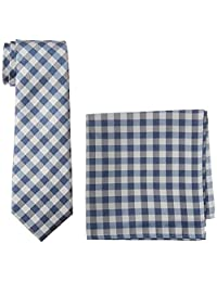 Nautica - Conjunto de corbata y bolsillo cuadrado para hombre