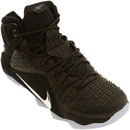 Nike Lebron XII EXT Hombre Fibra sintética Zapato de Baloncesto - black chrome black 001