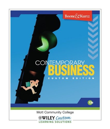 Contemporary Business 13th Edition with Audio Chapters CD & Chapter & Cont Case Videos DVD